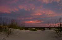 USA, Florida, Anastasia State Park, Beach at sunset