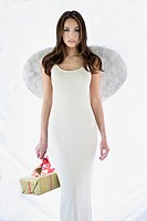 Woman with Angel Wings and Gift