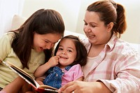 Mother Reading with Daughters