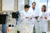 Researchers, Microbiology laboratory, Tecnalia Foundation, Technology and Research Centre, San Sebastian Technological Park, Donostia, Gipuzkoa, Basqu...