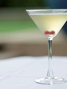 The white Manhattan Martini, a variation of the classic Manhattan, which uses unaged white whiskey, bitters and sweet vermouth