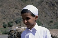 Saudi Arabia, Near Abha, Wadi Al Aws, Portrait Of Local Boy