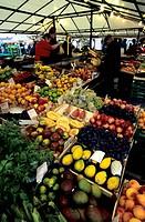 Austria, Salzburg, Marketplace, various fruits in boxes