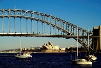 Australia, Sydney, Harbor Bridge With Opera House