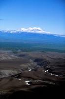 Russia, Kamchatka, Near Petropavlovsk, Avacha Volcano, View Of Zhupanovsky Volcano