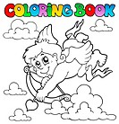 Coloring book Valentine theme 2 _ picture illustration.