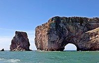 Perce Rock, Gaspe, Quebec, Canada
