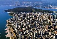 Vancouver, aerial view  British Columbia CANADA.