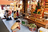 Thai People Praying, Wat Prathat Doi Suthep , Chiang Mai , Thailand