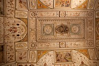 Ornate frescoes on ceiling