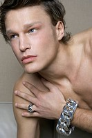 Men Wearing Silver Jewelry