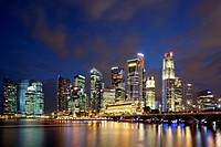 Skyscrapers at the waterfront, Singapore City, Singapore