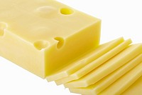 Sliced Swiss cheese