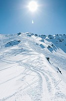 High Mountain with Snow