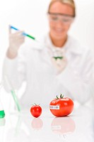 Genetic engineering _ scientist in laboratory