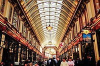Leadenhall Market in the City, London, England, UK, Europe.