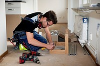 Carpenter working indoor