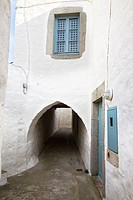 europe, greece, dodecanese, patmos island, chora village, traditional house