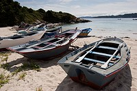 Nerga beach, Cangas Council, Morrazo Shire, Pontevedra, Rias Bajas, Galicia, Europe, Spain
