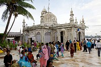 the inner courtyard of the haji ali's mosque and tomb in worli district  mumbay  maharashtra  india  asia