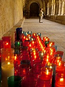 candles in a cloister, Tarragona, Catalonia, Spain