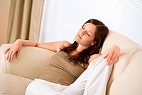 Young woman relax in lounge