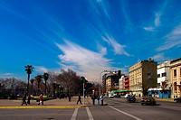 Chile, Santiago, Mapocho Station neighborhood