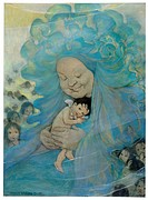 ´Mrs. Doasyouwouldbedoneby.´ Illustration by Jessie Wilcox Smith, published in a 1916 edition of ´The Water Babies´ by Charles Kingsley.