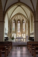 Sanctuary of the church of St. Aegidius, Wiedenbrueck, Rheda-Wiedenbrueck, Muensterland region, North Rhine-Westphalia, Germany, Europe