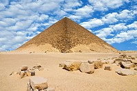 The Red Pyramid Senefru or Snefru Pyramid, Dahshur, UNESCO World Heritage Site, near Cairo, Egypt, North Africa, Africa