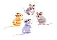 Illustration Of Mice Meeting