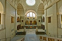 Lichthof, atrium, at the LMU, Ludwig Maximilian University, main building, Munich, Upper Bavaria, Bavaria, Germany, Europe