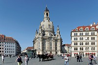 Frauenkirche, Church of Our Lady, Dresden, Florence of the Elbe, Saxony, Germany, Europe