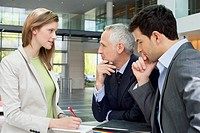 Business executives discussing in an office