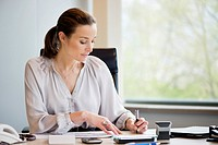 Businesswoman working in an office