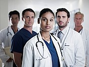 Portrait of confident doctors and nurses