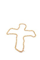 crucifix with a pearl necklace isolated on a white background
