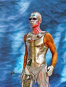Bodypainting men