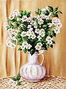 Blossoming apple_tree in a white jug