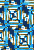 Blue and brown geometric pattern