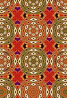 Red and purple geometric design