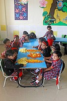 Pre Primary Students in a Classroom, India