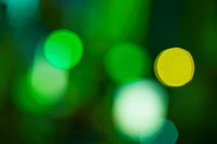 Green defocused lights