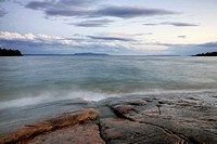 Rocky Shoreline Of Lake Superior, Thunder Bay Ontario Canada