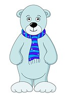 Teddy_bear white in a scarf