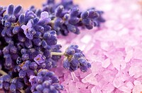 Lavender flowers and the bath salt _ beauty treatment