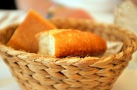 Basket of French Bread Baguettes