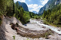 Wimbach Valley in Berchtesgaden Alps, Germany
