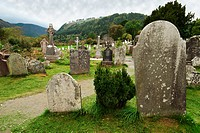 Old Tombstones In A Cemetery, Ireland