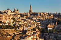 View Over City To The Gothic Cathedral, Toledo Toledo Province Castilla_La Mancha Spain